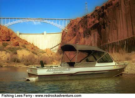 lees ferry fishing near dam