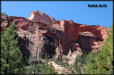 Kolob Arch in Zion Park