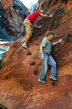 Red Cliffs Recreation Area Hikers