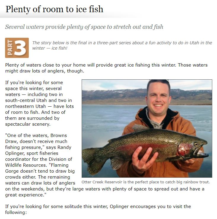 room to ice fish