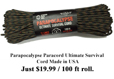 parapocalypse paracord ultimate survival cord made in usa