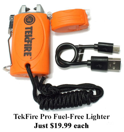 tekfire fuel free lighter