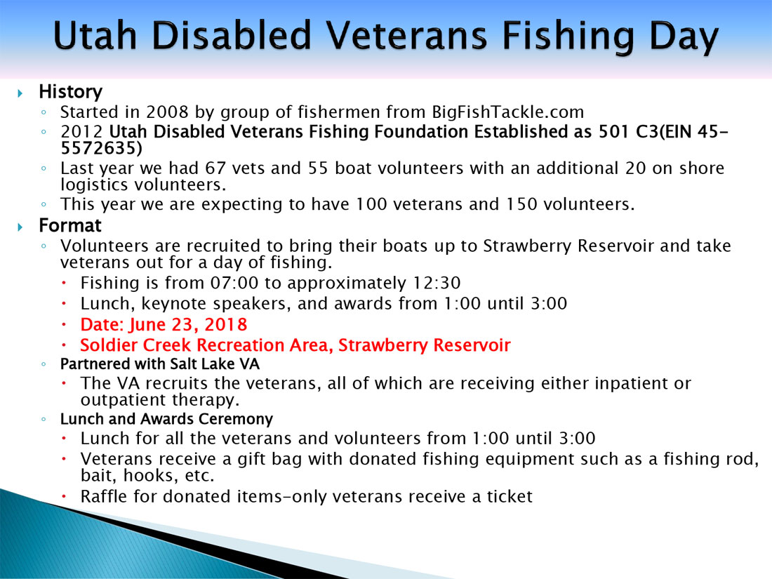 Utah Disabled Veterans Fishing Day 2018 3