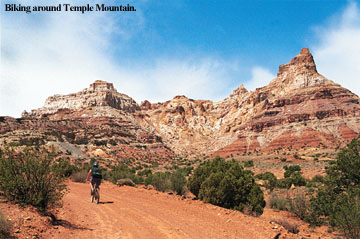 Biking Temple Mountain